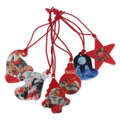 Image of Recycled Set of 6 Christmas Tree Decorations